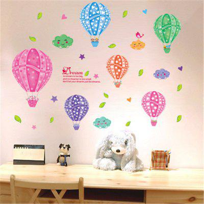 New Style Colorful Cloud Balloons Children'S Bedroom Decorative Wall Stickers