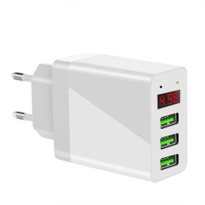 SpedCrd LED Display 3 USB  5V2.4A Max Universal  Mobile Phone Charger