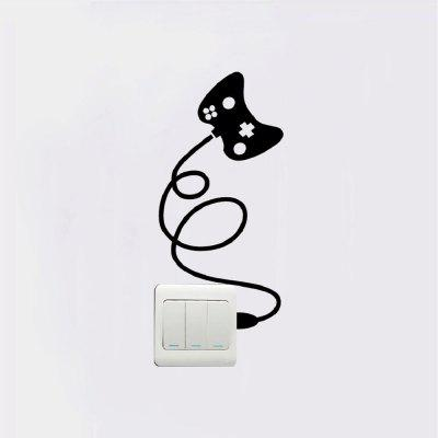 DSU  Gamepad Light Switch Sticker Funny Vinyl Wall Sticker for Bedroom Home DecorationWall Stickers<br>DSU  Gamepad Light Switch Sticker Funny Vinyl Wall Sticker for Bedroom Home Decoration<br><br>Art Style: Plane Wall Stickers, Toilet Stickers<br>Artists: Others<br>Brand: DSU<br>Color Scheme: Black<br>Effect Size (L x W): 25 x 12.1 cm<br>Function: Light Switch Stickers, Decorative Wall Sticker<br>Layout Size (L x W): 25 x 12.1 cm<br>Material: Vinyl(PVC)<br>Package Contents: 1 x Wall Sticker<br>Package size (L x W x H): 27.00 x 14.00 x 1.00 cm / 10.63 x 5.51 x 0.39 inches<br>Package weight: 0.0400 kg<br>Product size (L x W x H): 25.00 x 12.10 x 0.01 cm / 9.84 x 4.76 x 0 inches<br>Product weight: 0.0300 kg<br>Quantity: 1<br>Subjects: Fashion,Letter,Cute,Cartoon,Famous,Game<br>Suitable Space: Living Room,Bedroom,Hotel,Kids Room,Entry,Kitchen,Pathway,Door,Corridor,Hallway,Boys Room,Game Room<br>Type: Plane Wall Sticker