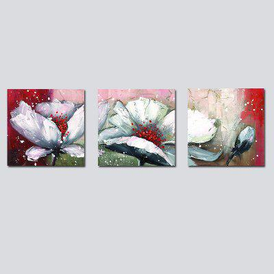 QiaoJiaHuaYuan No Frame Canvas Living Room Sofa Background Decoration Hanging Painting Triplet Plant Flowers