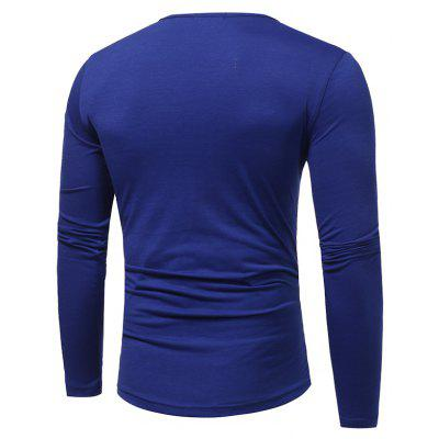2017 New  Fashion Horns Knot Long-Sleeved Slim T Shirt Plus SizeMens Long Sleeves Tees<br>2017 New  Fashion Horns Knot Long-Sleeved Slim T Shirt Plus Size<br><br>Collar: Round Neck<br>Material: Cotton, Polyester<br>Package Contents: 1xT-shirt<br>Pattern Type: Solid<br>Sleeve Length: Full<br>Style: Casual<br>Weight: 0.2300kg