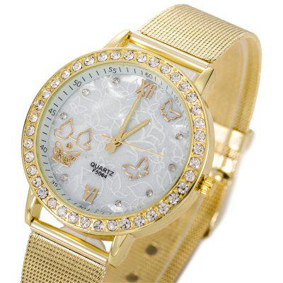 High Grade Hollow Out Alloy Steel Mesh  Female Watch