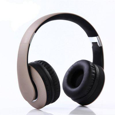 Wireless Bluetooth Headset Binaural 4.0 Computer Head-mounted Mini-fold