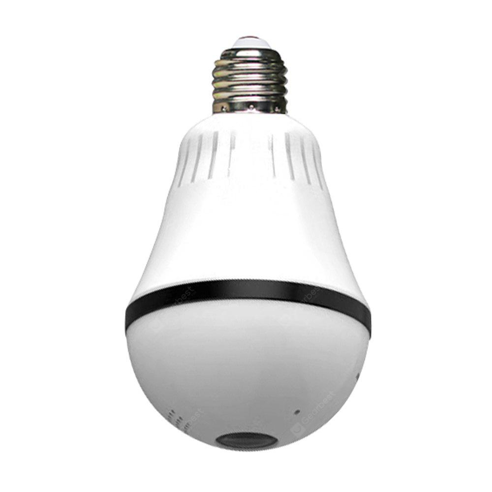 IPC-F60D HD WiFi IP VR Bulb Camera with Fisheye Lens 360 Panoramic for Remote Wireless Home Security System