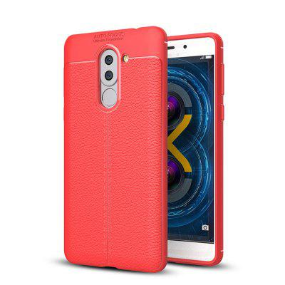 Cover Case for Huawei Honor 6X Luxury Original Shockproof Armor Soft Leather Carbon TPU