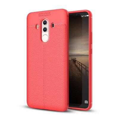 Cover Case for Huawei Mate 10 Pro Luxury Original Shockproof Armor Soft Leather Carbon TPU
