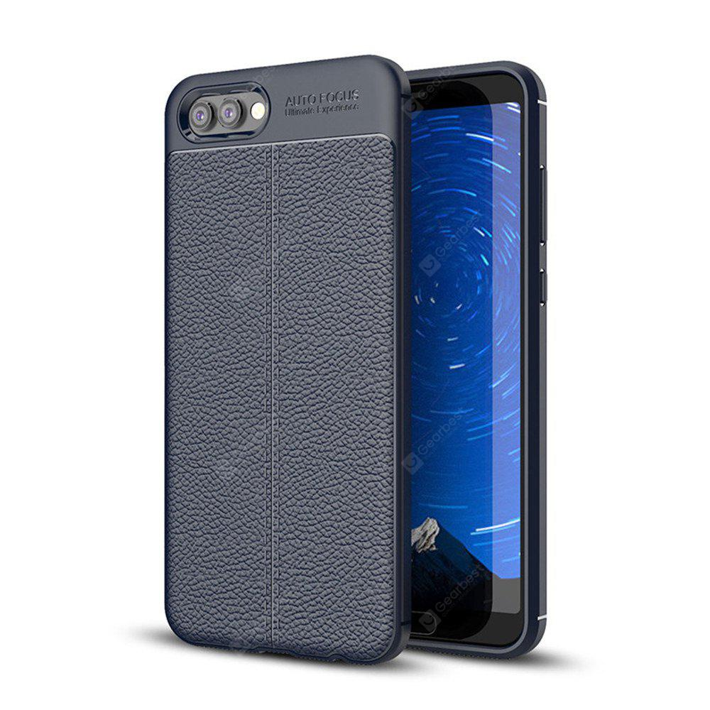 Cover Case for Huawei Honor V10 Luxury Original Shockproof Armor Soft Leather Carbon TPU