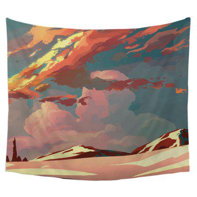 Cool Cartoon Wall Decoration Tapestry With Clouds