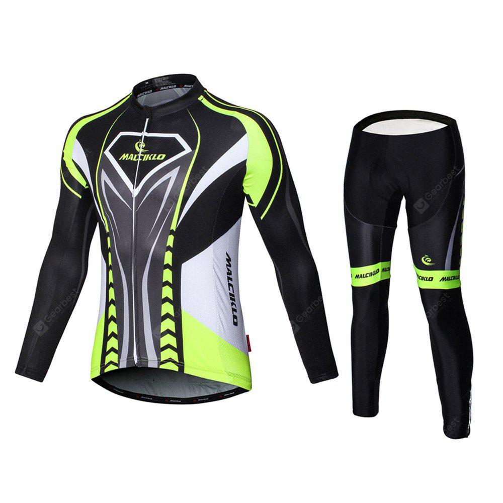 Malciklo 18 New Products Spring And Autumn Season Cycling Jersey Tights Men Long Bike Compression Suits Qui