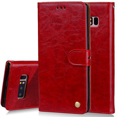 Cover Case For Samsung Galaxy Note 8 Oil Wax Pattern PU Leather Wallet Case