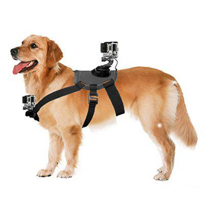 Pet Chest Strap with Two Camera Mounts for Medium and Large-Size Dogs for GoPro Hero 4/3+/3/2