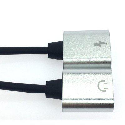 One Tow Two Audio Switch Cable for iPhoneiPhone Cables &amp; Adapters<br>One Tow Two Audio Switch Cable for iPhone<br><br>Cable Length (cm): 13cm<br>Features: Other, Adapter with stand<br>Interface Type: 8 pin<br>Material ( Cable&amp;Adapter): Others<br>Package Contents: 1 x Audio Receiver<br>Package size (L x W x H): 15.00 x 5.00 x 3.00 cm / 5.91 x 1.97 x 1.18 inches<br>Package weight: 0.0100 kg<br>Type: Audio Receiver