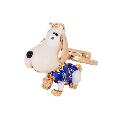 Cute Puppy Alloy Key Chain Fashion Girls Bag Pendant Car Strap
