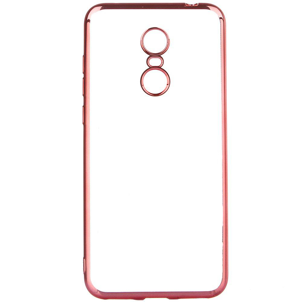 ASLING Transparent Back Case for Xiaomi Redmi 5 Plus Electroplating TPU Soft Cover Protector