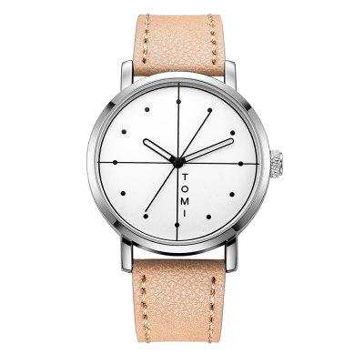 TOMI T019 Unisex Fashion Leather Strap Wrist Watch with Box