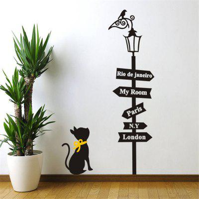 Street Cats Wall Art Sticker DIY Home Decoration Waterproof Removable Decal  ...