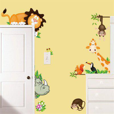 Giraffe Monkey Wall Sticker Children Room Kindergarten DIY Decoration DecalsWall Stickers<br>Giraffe Monkey Wall Sticker Children Room Kindergarten DIY Decoration Decals<br><br>Function: Decorative Wall Sticker<br>Layout Size (L x W): 90x30cm<br>Material: Vinyl(PVC)<br>Package Contents: 1 x Wall Sticker<br>Package size (L x W x H): 30.00 x 4.00 x 4.00 cm / 11.81 x 1.57 x 1.57 inches<br>Package weight: 0.1500 kg<br>Product weight: 0.0900 kg<br>Quantity: 1<br>Subjects: Cartoon<br>Suitable Space: Living Room,Bedroom,Kids Room,Kids Room<br>Type: Plane Wall Sticker