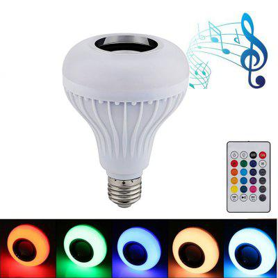 Bombilla Led E27 12W LED RGB Wireless Bluetooth Light Bulb Speaker Bulb Wireless Music Playing Light Lamp With Remote