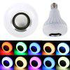 Bombilla Led E27 12W LED RGB Wireless Bluetooth Light Bulb Speaker Bulb Wireless Music Playing Light Lamp With Remote - WHITE