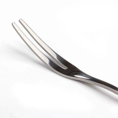 Buy Stainless Steel fruit Snacks Fork Fashionable Stainless Steel Tableware SILVER for $1.16 in GearBest store