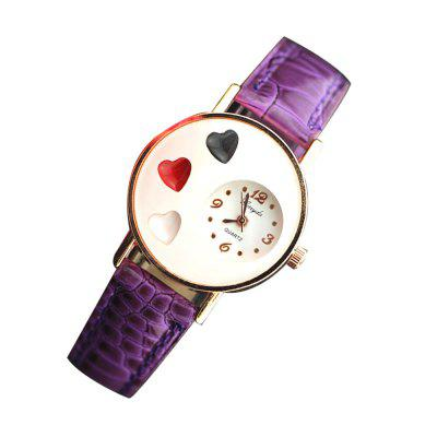 Fashion Loves Quartz Belt Ladies WatchWomens Watches<br>Fashion Loves Quartz Belt Ladies Watch<br><br>Band material: PU<br>Case material: Zinc Alloy<br>Display type: Analog<br>Movement type: Quartz watch<br>Package Contents: 1 x Watch<br>Package size (L x W x H): 26.00 x 5.00 x 3.00 cm / 10.24 x 1.97 x 1.18 inches<br>Package weight: 0.0600 kg<br>Product size (L x W x H): 23.50 x 3.30 x 0.90 cm / 9.25 x 1.3 x 0.35 inches<br>Product weight: 0.0350 kg<br>Shape of the dial: Round<br>Watch style: Fashion, Casual<br>Watches categories: Women<br>Water resistance: No