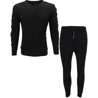 New Men's Fashion Young People Trendy Solid Color Sports Suits