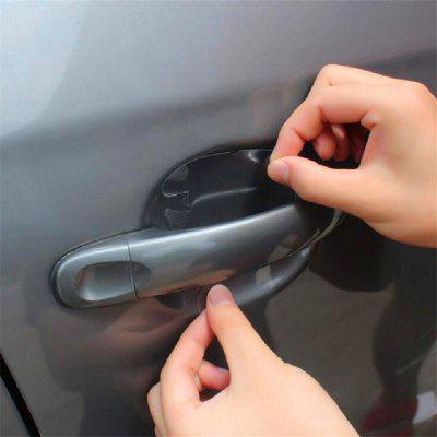 4pcs/pack Car Door Handle Film Protective Film Rhino Skin Protective Film Car Door Handle Protection Film