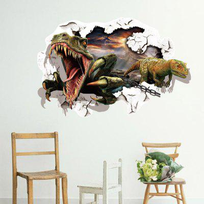 Dinosaur 3D Wall Through The Wall Stickers