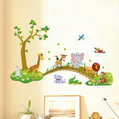 Cute Forest Animal Cartoon Wall StickersWall Stickers<br>Cute Forest Animal Cartoon Wall Stickers<br><br>Art Style: Plane Wall Stickers<br>Effect Size (L x W): 90x60cm<br>Features: landscaping, mildew,  mothproof,  anti-fouling,  moisture-proof<br>Functions: Others, Decorative Wall Stickers<br>Hang In/Stick On: Living Rooms,Bedrooms,Nurseries,Lobby,Kids Room<br>Layout Size (L x W): 90x60cm<br>Material: Vinyl(PVC)<br>Package Contents: 1 x Wall Sticker<br>Package size (L x W x H): 60.00 x 30.00 x 10.00 cm / 23.62 x 11.81 x 3.94 inches<br>Package weight: 0.1700 kg<br>Product size (L x W x H): 90.00 x 60.00 x 1.00 cm / 35.43 x 23.62 x 0.39 inches<br>Product weight: 0.1500 kg<br>Sizes: Others<br>Subjects: Animal