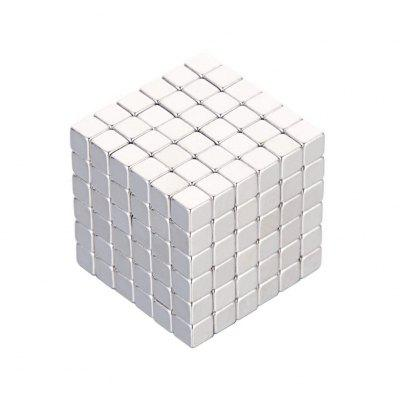 216 Pcs / 4mm Neodymium Neocube Cube Fun Power Square Square (Cor: Prata)