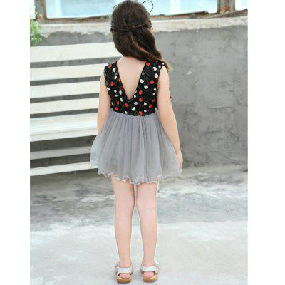 New Girl Fashion Collar Dress Embroidery V Multilayer Gauze new