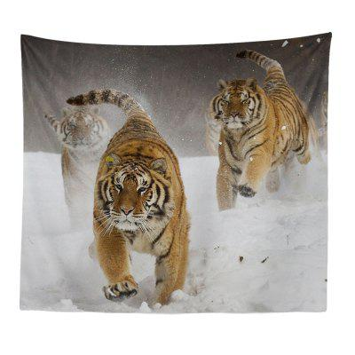 HD Digital Print Dierenportret Lion Tiger Tapestry Beach Towel Multi-Specification
