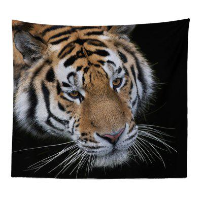 HD Digital Print Animal Portrait Lion Tiger Tapestry Beach Towel Multi-Specification