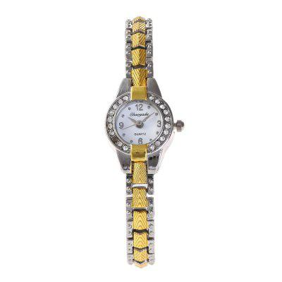 Chaoyada 8014 Women Fashion Watch Pointer Display Elegant Quart Trendy AccessoryWomens Watches<br>Chaoyada 8014 Women Fashion Watch Pointer Display Elegant Quart Trendy Accessory<br><br>Band material: Zinc Alloy<br>Case material: Zinc Alloy<br>Clasp type: Jewelry clasp<br>Display type: Analog<br>Movement type: Quartz watch<br>Package Contents: 1 x Watch<br>Package size (L x W x H): 8.50 x 8.50 x 5.30 cm / 3.35 x 3.35 x 2.09 inches<br>Package weight: 0.0980 kg<br>Product size (L x W x H): 20.00 x 2.00 x 0.80 cm / 7.87 x 0.79 x 0.31 inches<br>Product weight: 0.0330 kg<br>Shape of the dial: Round<br>Watch mirror: Mineral glass<br>Watch style: Childlike, Fashion, Classic, Business, Retro, Lovely, Wristband Style, Casual<br>Watches categories: Women,Female table<br>Water resistance: Life water resistant