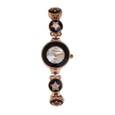 Chaoyada 8017 Sweet Style Brief Exquisite Watch for WomenWomens Watches<br>Chaoyada 8017 Sweet Style Brief Exquisite Watch for Women<br><br>Band material: Zinc Alloy<br>Case material: Zinc Alloy<br>Display type: Analog<br>Movement type: Quartz watch<br>Package Contents: 1 x Watch<br>Package size (L x W x H): 8.50 x 8.50 x 5.30 cm / 3.35 x 3.35 x 2.09 inches<br>Package weight: 0.0900 kg<br>Product size (L x W x H): 21.00 x 2.30 x 0.90 cm / 8.27 x 0.91 x 0.35 inches<br>Product weight: 0.0250 kg<br>Shape of the dial: Round<br>Watch style: Childlike, Fashion, Classic, Business, Lovely, Wristband Style, Casual<br>Watches categories: Women,Female table<br>Water resistance: Life water resistant