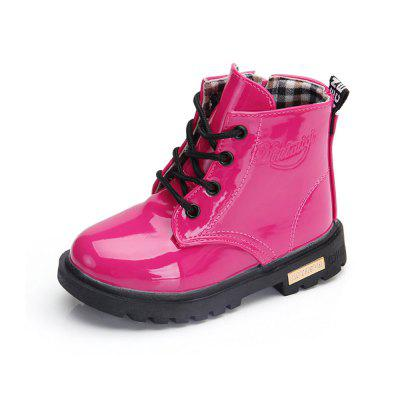 Little Middle Age Children Boots Boy and Girl Hot Sale Waterproof Martin Boots