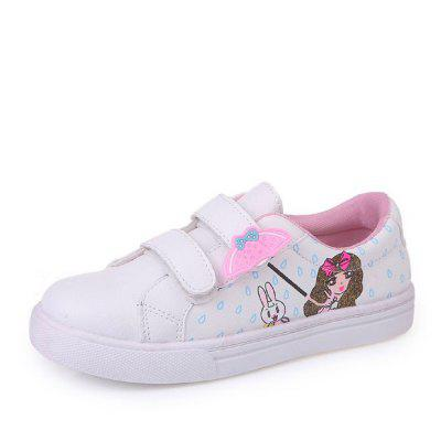 New Style Cartoon Pattern Design Casual Shoes for Girls