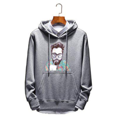 Mens Young Students New Spring Hoodie