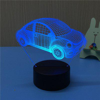 3D Beetle USB Touch And Control 7 Colour Night Light Bedroom Bedside LED Lamp