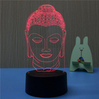 3D Buddha USB Touch And Control 7 Colour Night Light Bedroom Bedside LED Lamp