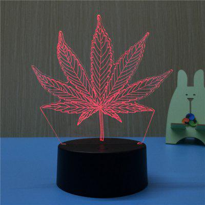 3D leaves USB Touch And Control 7 Colour Night Light Bedroom Bedside LED Lamp