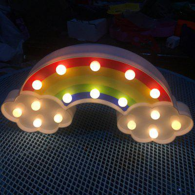 Beautiful Cute Colours Of The Rainbow Shaped LED Lamp Children Room Decorated With  Small Night Light ...