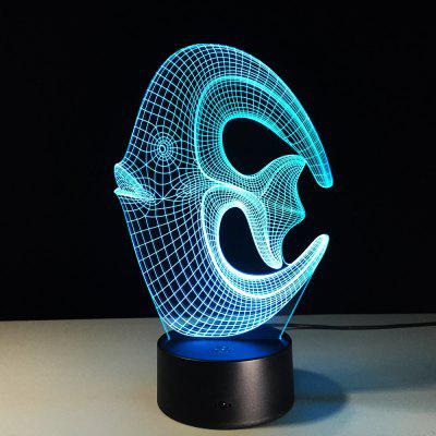 3D Tropical Fish USB Touch And Control 7 Colour Night Light Bedroom Bedside LED Lamp
