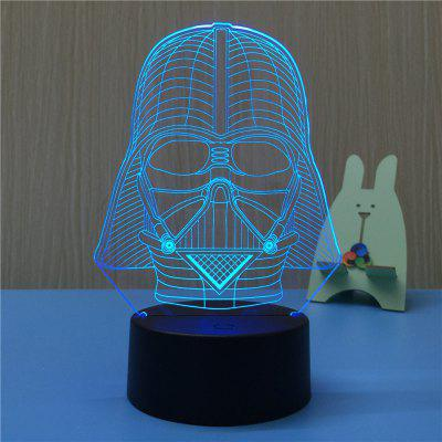 3D Black Knight USB Touch And Control Seven Colour Night Light Bedroom Bedside LED Lamp3D Lamps<br>3D Black Knight USB Touch And Control Seven Colour Night Light Bedroom Bedside LED Lamp<br><br>Battery Quantity: NO<br>Color Temperature or Wavelength: 620-630NM,440-480NM,380-420NM<br>Connector Type: EU plug<br>Features: Decorative, Color-changing<br>Light Source Color: Red,Blue,Purple<br>Light Type: LED,Night Light,Indoor Light,Decoration Light<br>Mini Voltage: 85 - 265V<br>Package Contents: 1 x Acrylic Plate,1 x ABS Base,1 x Switch Button Plug Line<br>Package size (L x W x H): 22.50 x 14.50 x 5.50 cm / 8.86 x 5.71 x 2.17 inches<br>Package weight: 0.3750 kg<br>Plug Type: EU plug<br>Power Source: AC<br>Product weight: 0.3000 kg<br>Quantity: 1<br>Style: Cartoon, Artistic Style<br>Wattage: 4W