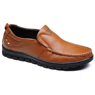 Leather Flat Bottomed Casual Shoes