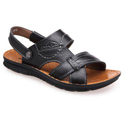 Leather Breathable and Cool Slippers