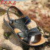 Leather Breathable and Cool Slippers - BLACK
