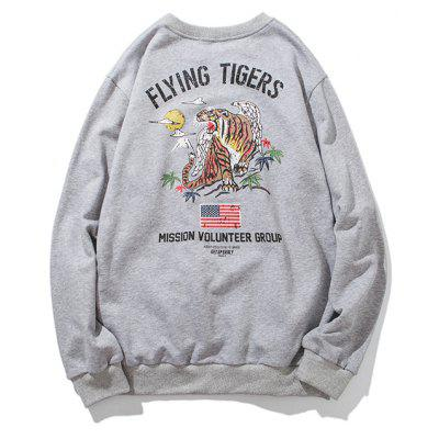 Mens Tiger Print Round Neck SweatshirtMens Hoodies &amp; Sweatshirts<br>Mens Tiger Print Round Neck Sweatshirt<br><br>Material: Cotton, Polyester<br>Package Contents: 1 x  Sweatshirt<br>Shirt Length: Regular<br>Sleeve Length: Full<br>Style: Active<br>Weight: 0.7000kg