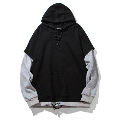 Fake Two Men's Cotton Hoodie