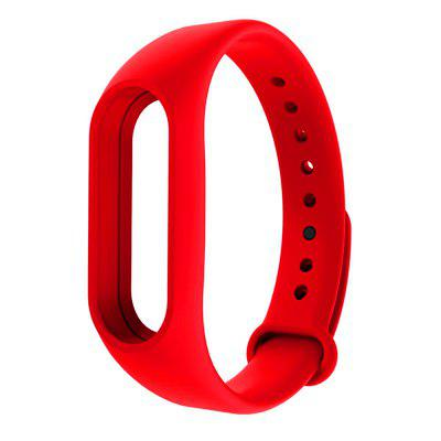 Accessories for Xiaomi Mi Band 2 Silicone Watch Strap Red
